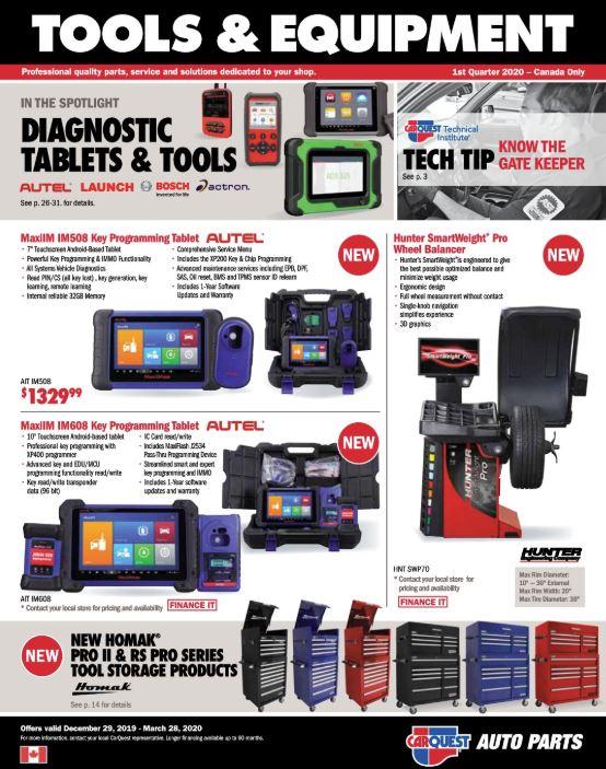 Carquest Tools & Equipment Flyer