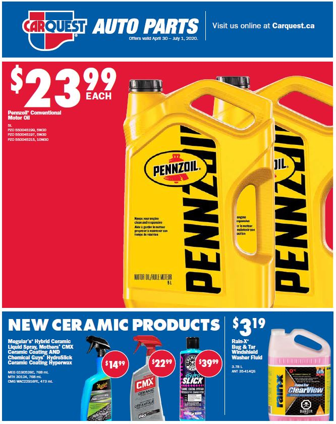 Carquest In-Store Savings Flyer