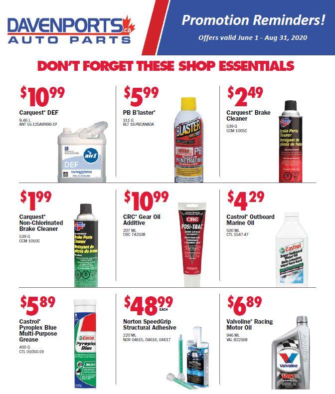 Davenports Shop Essentials Specials!