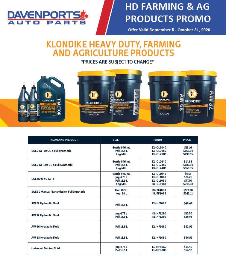 HD Farming & Ag Products Promo